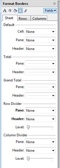 Format Borders